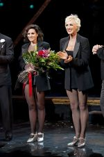 Kara DioGuardi, Amra-Faye Wright attends the Chicago The Musical on Broadway in Ambassador Theater on September 6, 2011 (2).jpg