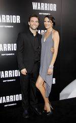 Monique Gardenton, Sam Hargrave attends the Warrior Los Angeles Premiere at ArcLight Cinemas on 6th September 2011 (3).jpg