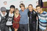 Felix Ryan, Steven Skyler, Brittany Anne Pirtle, Alex Heartman, Najee De-Tiege and Hector David Jr. attends Fashion_s Night Out at ADBD hosted by Paul Frank in Los Angeles on September 8, 2011 (10).jpg