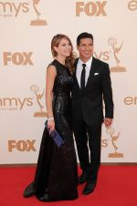 Maria Menounos and Mario Lopez attends the 63rd Annual Primetime Emmy Awards in Nokia Theatre L.A. Live on 18th September 2011 (2).jpg