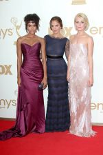 Minka Kelly, Annie Ilonzeh and Rachael Taylor attends the 63rd Annual Primetime Emmy Awards in Nokia Theatre L.A. Live on 18th September 2011 (2).jpg