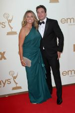 Nancy Juvonen and Jimmy Fallon attends the 63rd Annual Primetime Emmy Awards in Nokia Theatre L.A. Live on 18th September 2011.jpg