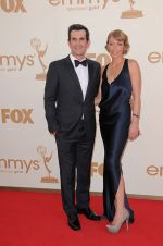 Ty Burrell and wife Holly Burrell attends the 63rd Annual Primetime Emmy Awards in Nokia Theatre L.A. Live on 18th September 2011.jpg