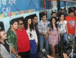 Subhash Dawar Shreyas, Satish Kaushik, Pia, Sameer Chand, Sunil Chainani, Tusshar, Minissha at Hum Tum Shabana Special Train Journey on 23rd Sept 2011.JPG