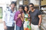 Naga Shaurya, Adarsh Balakrishna, Surya Teja, Sarika Affan in Cricket Girls and Beer Press Meet on 26th September 2011 (2).jpg