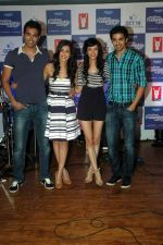 Saqib Saleem, Tara D_Souza, Saba Azad, Nishant Dahiya at Yashraj Films Mujhse Fraandship Karoge music showcase in Yashraj Studios on 28th Sept 2011 (46).JPG