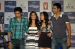 Saqib Saleem, Tara D_Souza, Saba Azad, Nishant Dahiya at Yashraj Films Mujhse Fraandship Karoge music showcase in Yashraj Studios on 28th Sept 2011 (47).JPG