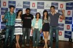Saqib Saleem, Tara D_Souza, Saba Azad, Nishant Dahiya at Yashraj Films Mujhse Fraandship Karoge music showcase in Yashraj Studios on 28th Sept 2011 (48).JPG