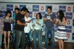 Saqib Saleem, Tara D_Souza, Saba Azad, Nishant Dahiya at the Audio release of Mujhse Fraaandship Karoge in Yashraj Studios on 28th Sept 2011 (10).JPG