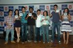 Saqib Saleem, Tara D_Souza, Saba Azad, Nishant Dahiya at the Audio release of Mujhse Fraaandship Karoge in Yashraj Studios on 28th Sept 2011 (11).JPG