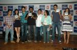 Saqib Saleem, Tara D_Souza, Saba Azad, Nishant Dahiya at the Audio release of Mujhse Fraaandship Karoge in Yashraj Studios on 28th Sept 2011 (12).JPG