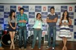 Saqib Saleem, Tara D_Souza, Saba Azad, Nishant Dahiya at the Audio release of Mujhse Fraaandship Karoge in Yashraj Studios on 28th Sept 2011 (13).JPG