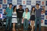 Saqib Saleem, Tara D_Souza, Saba Azad, Nishant Dahiya at the Audio release of Mujhse Fraaandship Karoge in Yashraj Studios on 28th Sept 2011 (49).JPG