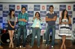 Saqib Saleem, Tara D_Souza, Saba Azad, Nishant Dahiya at the Audio release of Mujhse Fraaandship Karoge in Yashraj Studios on 28th Sept 2011 (5).JPG