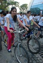 2011 Miss Hyderabad Team participates in Go Green Ride on 1st October 2011 (74).JPG
