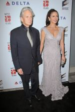 Michael Douglas and Catherine Zeta-Jones arrives at the 6th Annual _A Fine Romance_ Benefit in Sony Studios on 15th October 2011 (1).jpg