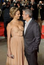 George Clooney and Stacy Keibler attends the 55th Annual Times BFI London Film Festival _The Descendants_ Premiere in Odeon Leicester Square on 20th October 2011 (1).jpg