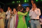 Sanjay Nirupam, Sunil Shetty, Shweta Bhardwaj, Rajneesh Thakur, Rakhi Sawant, Govinda,Jaaved with the star cast of the film The Loot at Sanjay Nirupam_s Chatt Pooja in Juhu Beach on 1st Nov 2011 (39).JPG