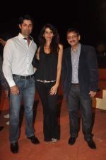 Ameet Gaur and Megha Kawale at RWITC press meet in Mahalaxmi Race Course on 10th Nov 2011 (17).JPG
