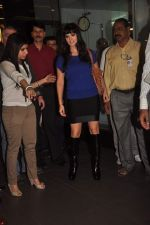 Sunny leone arrives in Mumbai to be part of Big Boss in Mumbai Airport on 17th Nov 2011 (3).JPG