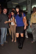 Sunny leone arrives in Mumbai to be part of Big Boss in Mumbai Airport on 17th Nov 2011 (9).JPG