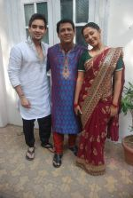 Rajendra Chawla, Sraman Jain, Rohini Banerjee at Sony TV_s Saas Bina Sasural on location in Malad on 24th Nov 2011 (48).JPG