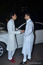 Ritesh Deshmukh, Aashish Chaudhary at Shabbir Ahluwalia and Kanchi Kaul_s sangeet ceremony on 24th Nov 2011 (104).JPG