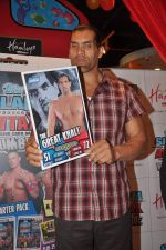The Great Khali launches the Topps Slam Attax Trading Card Game to bring alive WWE experience for kids in Hamleys on 1st Dec 2011 (77).JPG