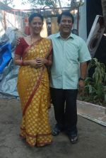 Rajendra Chawla, Rohini Banerjee at Saas Bina Sasural on location on 5th Dec 2011 (44).JPG