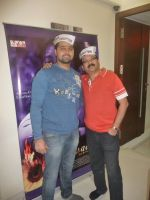 Mudasir Ali and  composer vivek prakash at the recording of anti-corruption song, Dhuaan Against Corruption.jpg