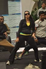 Neha Dhupia practice for Sahara Star Seduction in Sahara Star on 30th Dec 2011 (32).JPG
