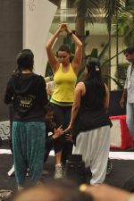 Neha Dhupia practice for Sahara Star Seduction in Sahara Star on 30th Dec 2011 (48).JPG