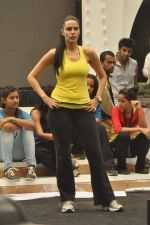 Neha Dhupia practice for Sahara Star Seduction in Sahara Star on 30th Dec 2011 (50).JPG