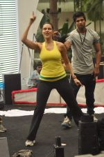 Neha Dhupia practice for Sahara Star Seduction in Sahara Star on 30th Dec 2011 (65).JPG