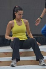Neha Dhupia practice for Sahara Star Seduction in Sahara Star on 30th Dec 2011 (73).JPG