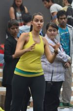 Neha Dhupia practice for Sahara Star Seduction in Sahara Star on 30th Dec 2011 (76).JPG