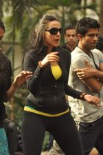 Neha Dhupia practice for Sahara Star Seduction in Sahara Star on 30th Dec 2011 (8).JPG