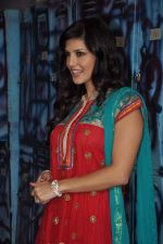 Sunny Leone On the sets of Bigg Boss 5 with Players star cast on 31st Dec 2011 (286).JPG