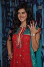 Sunny Leone On the sets of Bigg Boss 5 with Players star cast on 31st Dec 2011 (299).JPG