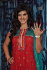 Sunny Leone On the sets of Bigg Boss 5 with Players star cast on 31st Dec 2011 (300).JPG