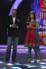 Sunny Leone, Sanjay Dutt On the sets of Bigg Boss 5 with Players star cast on 31st Dec 2011 (221).JPG