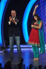 Sunny Leone, Sanjay Dutt On the sets of Bigg Boss 5 with Players star cast on 31st Dec 2011 (227).JPG