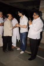 Sameer at Sunil and Dharmesh Darshan_s dad_s prayer meet in Santacruz on 3rd Jan 2012 (119).JPG
