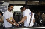 Aashish Chaudhary at CCL Cricket stars snapped at the airport in Mumbai on 11th Jan 2012 (9).JPG
