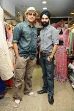 Pravin Dabbas with A D Singh at designer AD Singh store in Mumbai on 22nd Jan 2012.JPG
