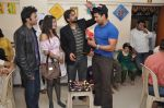 director Kirshan, Zaman, Sangram Singh, Payal Rohatgi at music launch of their 10th Feb release Valentine_s Night with mentally challenged people.JPG