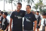 Ritwick Bhattacharaya with Chetan Bhagat at NDTV_s Marks for sports workshop at Otters club, Bandra.jpg