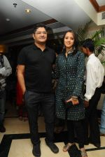 Ishita Arun with a friend at the launch of Deepak Pandit_s Album Miracle in at Orchid Hotel, Vile Parle on 8th Feb 2012.JPG