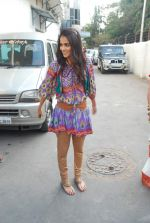 Genelia D_Souza on the sets of Dance India Dance in Famous on 20th feb 2012 (10).JPG