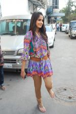 Genelia D_Souza on the sets of Dance India Dance in Famous on 20th feb 2012 (17).JPG